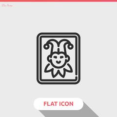joker vector icon