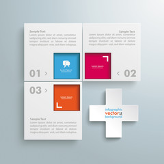 Website Template White 4 Squares 4 Options Cross