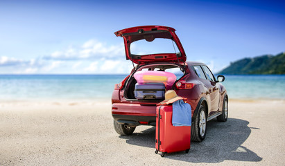 Summer car and few suitcase