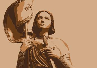 Jeanne d'Arc - portrait - bûcher - personnage historique - femme - France - Histoire - personnage célèbre