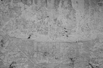 Foto op Plexiglas Graffiti Wall fragment with scratches and cracks