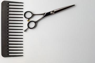Hairdresser's tools. Scissors