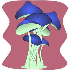 magic beautiful mushrooms cartoon