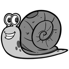 Garden Snail Illustration - A vector cartoon illustration of a Garden Snail mascot.