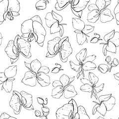 Seamless floral pattern with romantic flowers. Endless texture for elegant floral and season design