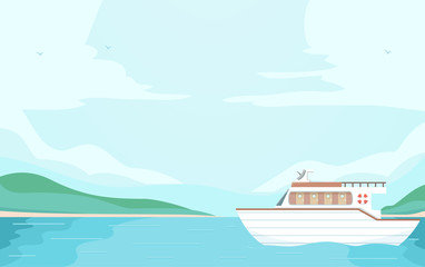 Boat Sea Illustration
