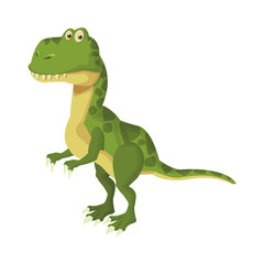 Trex dinosuar cartoon icon vector illustration graphic design