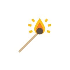 Camping & adventure icons - match stick