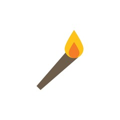 Camping & adventure icons - torch