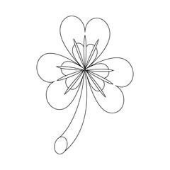 Shamrock clover symbol icon vector illustration graphic design