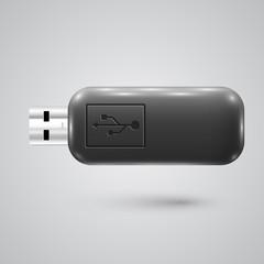 Realistic pendrive, vector illustration