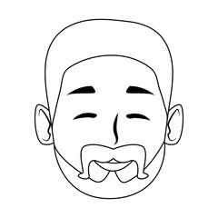 Man smiling face cartoon icon vector illustration graphic design