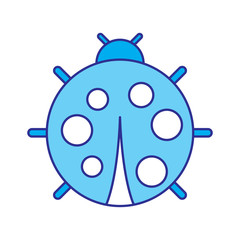 cute ladybug dotted animal insect wildlife vector illustration blue image