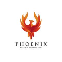 luxury phoenix logo concept, best phoenix bird logo design, phoenix vector logo