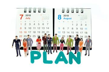 2018カレンダー PLAN