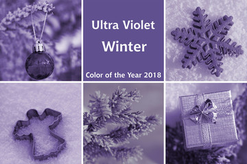 Collage of ultra violet - winter