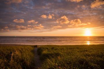 Golden hour sunset on the Oregon Coast