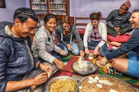 Tourist Momo Cooking Course, Panauti Community Home Stay, Nepal