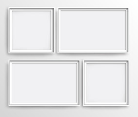 White realistic frames, vector illustration