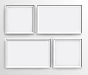 White realistic frames, vector illustration