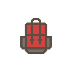 Camping & adventure icons - backpack