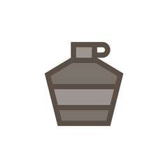 Camping & adventure icons - water bottle