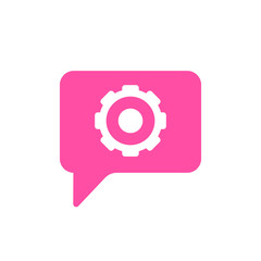 Bubble chat configuration gear message settings icon