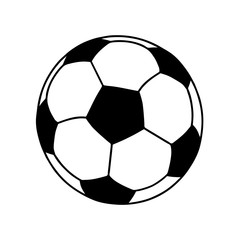 Soccer ball or football ball shape icon