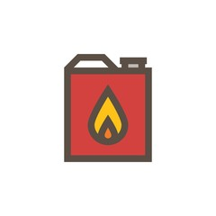 Camping & adventure icons - fuel