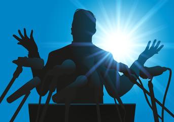 discours - micro - tribun - politicien - leadership - politique - meeting - conférence