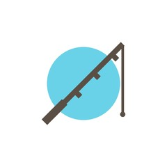 Camping & adventure icons - fishing rod