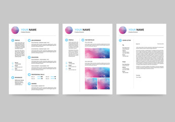 Resume Set with Light Blue Accents