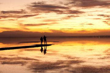 Sunset Salton Sea