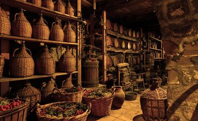 Fototapeta Old wine cellar