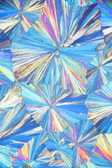 Chemistry and art, microscope image of crystals of  acetylsalicylic acid