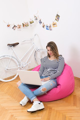 Young businesswoman in modern home office