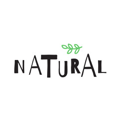 Simple style Natural poster.