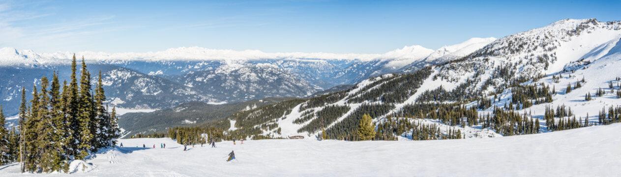 Winter ski panorama