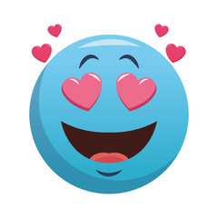 Emoji crush cartoon vector illustration graphic design