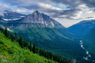 Beautiful Summer Day in Glacier National Park, Montana