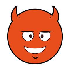 Devil emoji cartoon vector illustration graphic design