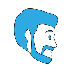 Man head cartoon vector illustration graphic design