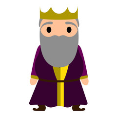 Isolated king cartoon character