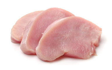 Papiers peints Viande Slices of raw turkey meat fillet