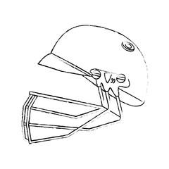 Helmet baseball equipment vector illustration graphic design