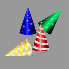 Party Hat and gold confetti