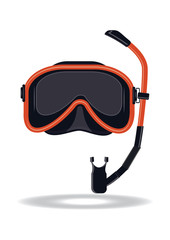 Mask for snorkeling - isolated on white background - vector illustration