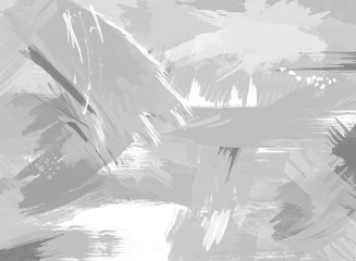 Abstract Painting in Grayscale Background