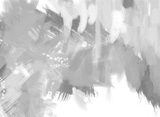 Digital Abstract Painting in shades of gray