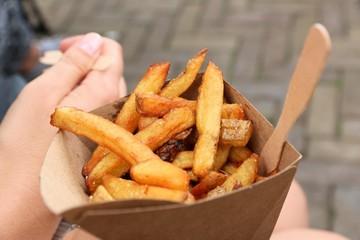 Belgian fries street food